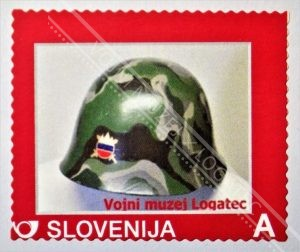 ZNAMKA - ČELADA SLOVENSKE VOJSKE 1991